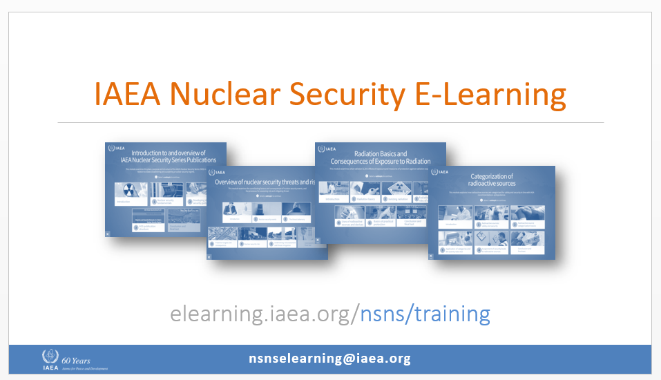 Main Page of Nuclear Security e-Learning