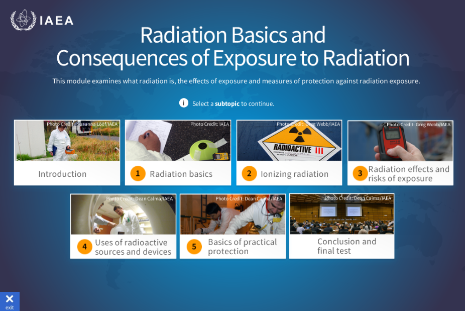 radiation basics and consequences of exposure to radiation 概要